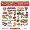 Βιβλίο με Σχέδια Κεντήματος με Θέμα Κήπος και Λουλούδια