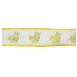 Δαντέλα (Ατραντές) με Λουλούδια σε Κίτρινο