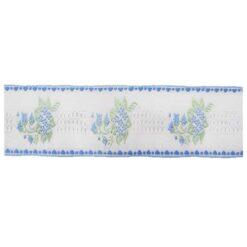 Δαντέλα (Ατραντές) με Μπουκέτα από Λουλούδια σε Γαλάζιο