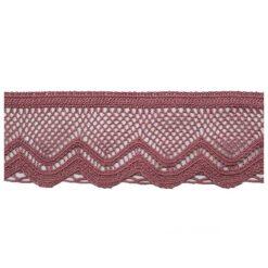 Δαντέλα Βαμβακερή με Στρογγυλό Τελείωμα σε Ροζ