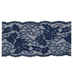 Δαντέλα Ελαστική 155mm με Φύλλα σε Μπλε Χρώμα