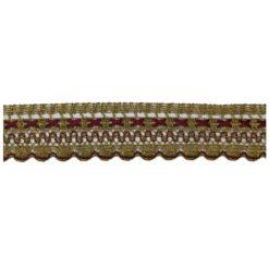 Δαντέλα Λασέ με Χρυσοκλωστή 3.5cm σε Μπορντό