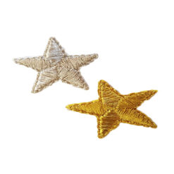Θερμοκολλητικά Μοτίφ Αστέρια με Χρυσοκλωστή