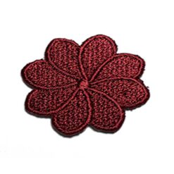 Θερμοκολλητικά Μοτίφ Λουλούδια σε Μπορντό Χρώμα