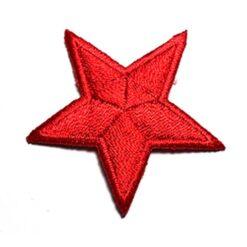 Θερμοκολλητικά Μοτίφ Στάμπες (Αστέρια) σε Κόκκινο Χρώμα
