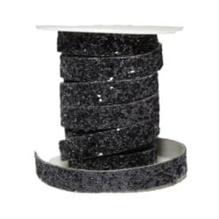 Θερμοκολλητική Κορδέλα με Μαύρα Στρας