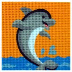 Κέντημα Παιδικό Δελφίνι (Κομπλέ Κιτ)