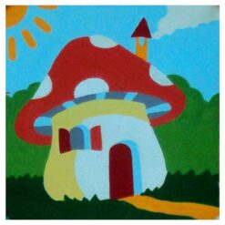 Κέντημα Παιδικό Σπίτι από Μανιτάρι (Κομπλέ Κιτ)
