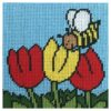 Κέντημα Παιδικό η Μέλισσα στις Τουλίπες (Κομπλέ Κιτ)