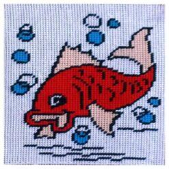 Κέντημα Παιδικό με Ψαράκι (Κομπλέ Κιτ)