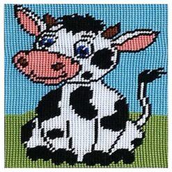 Κέντημα Παιδικό με την Αγελάδα (Κομπλέ Κιτ)