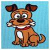 Κέντημα Παιδικό το Σκυλάκι με το Κόκκαλο (Κομπλέ Κιτ)