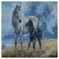 Κέντημα Σταμπωτό Άλογα