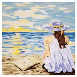 Κέντημα Σταμπωτό Διάβασμα στο Ηλιοβασίλεμα