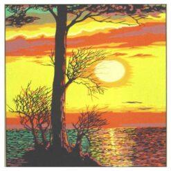 Κέντημα Σταμπωτό Ηλιοβασίλεμα στην Θάλασσα