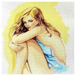 Κέντημα Σταμπωτό Πορτρέτο με Γυναίκα