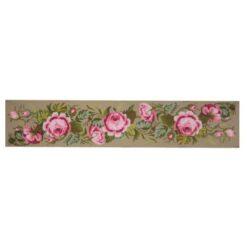 Κέντημα Σταμπωτό Τραβέρσα με Λουλούδια
