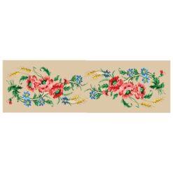 Κέντημα Σταμπωτό Τραβέρσα με τα Πολύχρωμα Λουλούδια