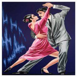 Κέντημα Σταμπωτό Χορεύοντας Τανγκό