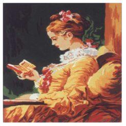 Κέντημα Σταμπωτό η Κοπέλα που Διαβάζει