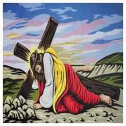 Κέντημα Σταμπωτό ο Χριστός που Κουβαλάει τον Σταυρό του