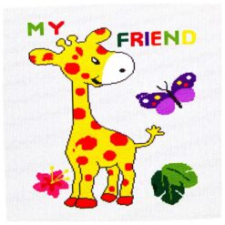Κέντημα Σταυροβελονιάς Κουβερτάκι (Be My Friend)