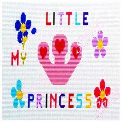 Κέντημα Σταυροβελονιάς Μαξιλάρι (My Little Princess)