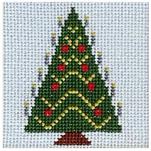 Κέντημα με το Χριστουγεννιάτικο Δέντρο