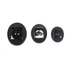 Κουμπί Γυαλιστερό με Ματ σε Μαύρο