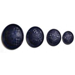 Κουμπί Γυαλιστερό με Ματ σε Μπλε