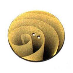 Κουμπί Διακοσμητικό με Σκιές σε Χρυσό