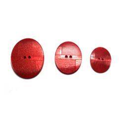 Κουμπί Κοκάλινο Κόκκινο Χρώμα