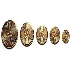 Κουμπί Κοκάλινο σε Χρυσό Χρώμα