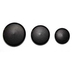 Κουμπί Ματ Μπουλ σε Μαύρο