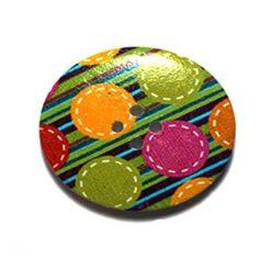 Κουμπί Ξύλινο Διακοσμητικό με Κύκλους