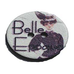Κουμπί Ξύλινο Belle Epoque