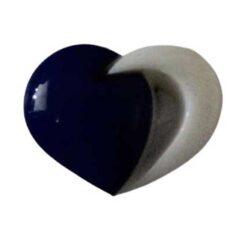 Κουμπί Παιδικό Καρδούλα σε Μπλε 15mm