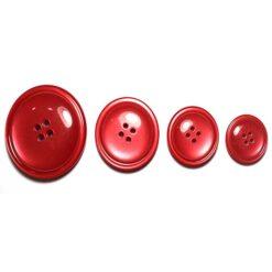 Κουμπιά Κοκκάλινα Γυαλιστερά σε Κόκκινο