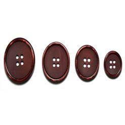 Κουμπιά Κοκκάλινα Ματ με Γυαλιστερά Μπορντό