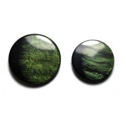 Κουμπιά Κοκκάλινα με Δυο Χρώματα σε Πράσινο