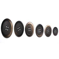 Κουμπιά Κοκκάλινα σε Ματ με Γυαλιστερό σε Καφέ