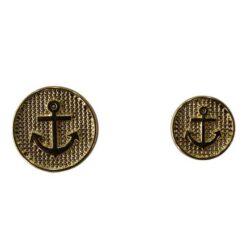 Κουμπιά Μεταλλικά για Μπλέιζερ Άγκυρα σε Χρυσό