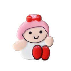 Κουμπιά Παιδικά με τα Κοριτσάκια σε Ροζ