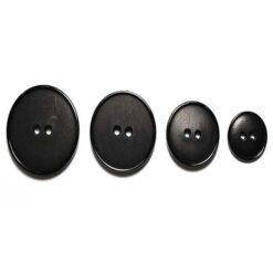Κουμπιά Πλαστικά Ματ σε Μαύρο