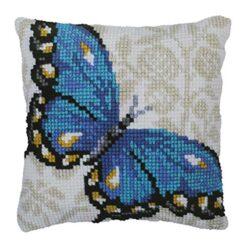 Μαξιλάρι για Κέντημα με την Μπλε Πεταλούδα