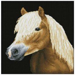 Πίνακας με Ψηφίδες Diamond Dotz Καφέ Άλογο