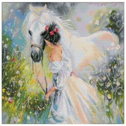 Πίνακας με Ψηφίδες Diamond Dotz το Κορίτσι με το Άλογο