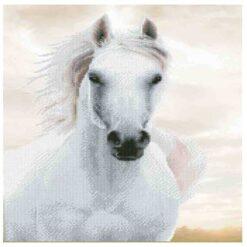 Πίνακας με Ψηφίδες Diamond Dotz Complete Κιτ Λευκό Άλογο
