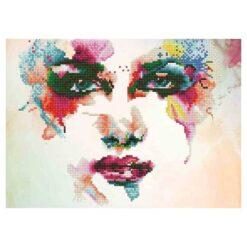 Πίνακας με Ψηφίδες Diamond Dotz Complete Κιτ Πρόσωπο Γυναίκας