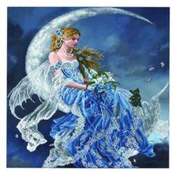 Πίνακας με Ψηφίδες Diamond Dotz Complete Κιτ η Νεράιδα στο Φεγγάρι